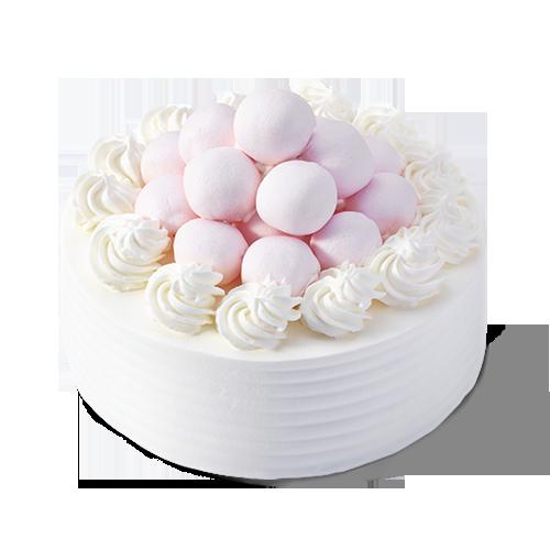 可爱的奶油云朵之中,还有缤纷的水果顽皮的躲藏在了香草味的海绵蛋糕